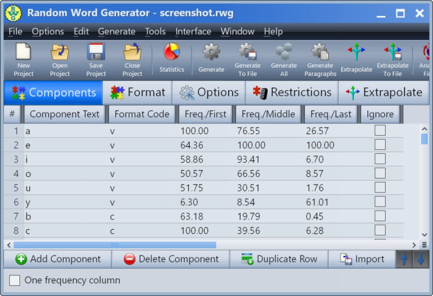 Click to view Random Word Generator 23.0 screenshot