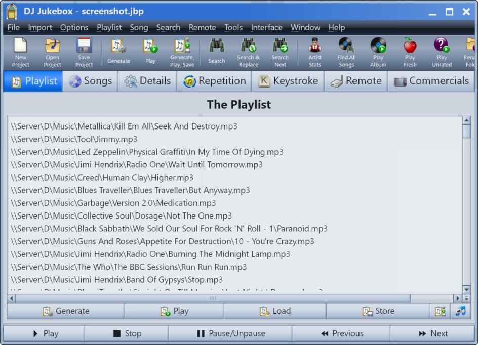A playlist generator and media file manager.