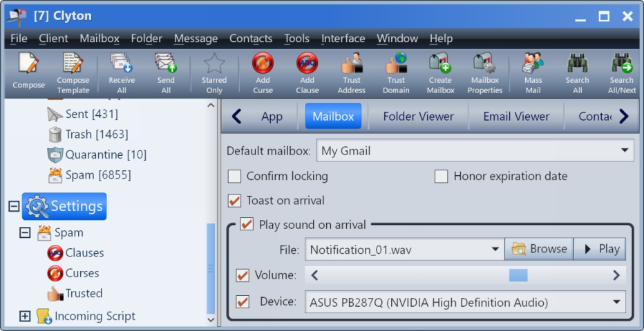 Email Client Screen Shot #6 | Clyton