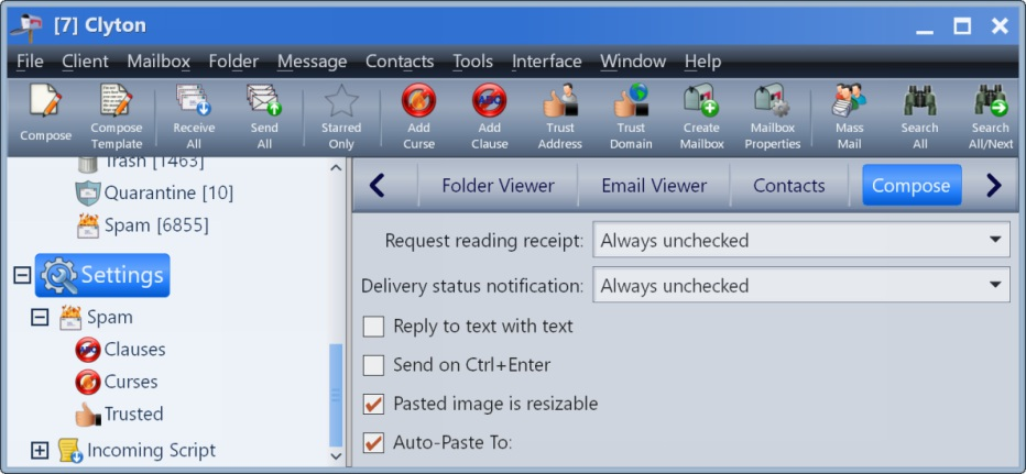 Email Client Screen Shot #10 | Clyton